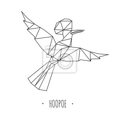 Ptak trójwymiarowy stylizowany trójkątny model