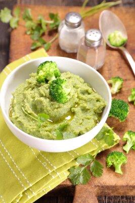 Plakat puree z brokułów