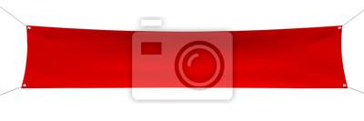 Plakat Puste czerwony sztandar z narożnikami lin