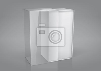 Puste opakowania otworzył pudełko z przezroczystym okienkiem plastikowym