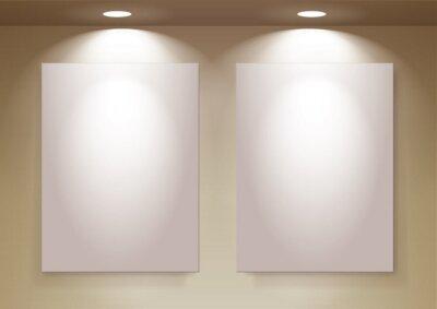 puste ramki na ścianie