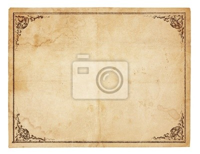 Plakat Puste vintage papier z antykami granicy