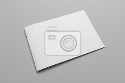 Plakat Pusty magazyn renderingu 3D na szarym ze ścieżką obcinania nr 8