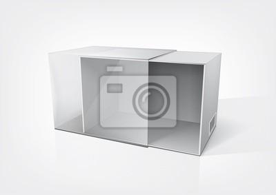 Pusty otwarte Pudełko na nowy projekt