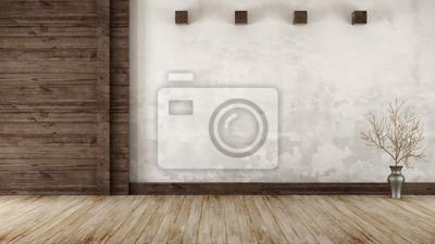 Plakat Pusty pokój w stylu rustykalnym