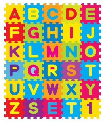 Plakat Puzzle Alfabet Vector