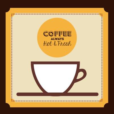 Plakat pyszne kawy projektowania