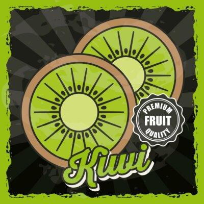 Plakat pyszne owoce projektowania