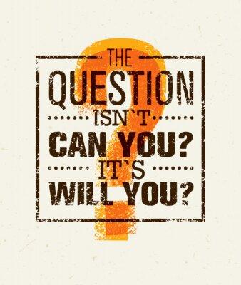 Plakat Pytanie Wszystko kreatywny pojęcie wektora. Motywacja Cytat Znakomita