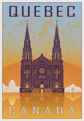 Plakat Quebec zabytkowe plakaty