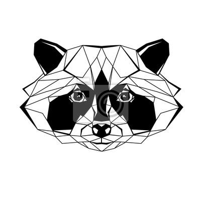 Raccoon stylizowany trójkąt wieloboczny modelu