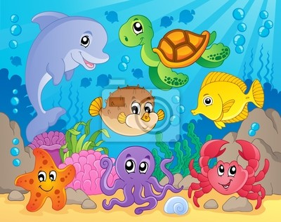 Rafa Koralowa Motywu Obrazu 5 Plakaty Redro