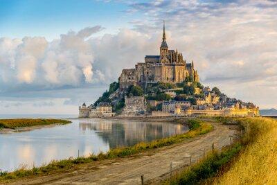 Plakat Rano widok na Mont Saint-Michel