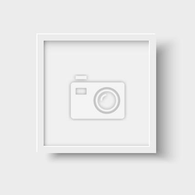 Plakat Realistyczne kwadratowych puste ramki obrazu