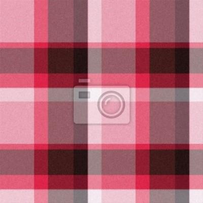 Plakat Realistyczne tartan lub czerwony bez szwu tekstury widocznej kratki thr