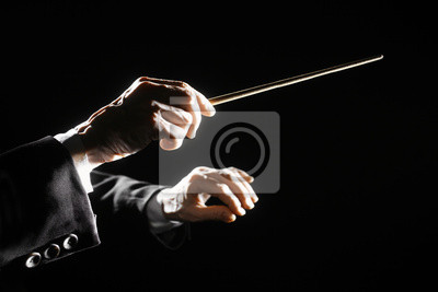 Plakat Ręce dyrygent batutą