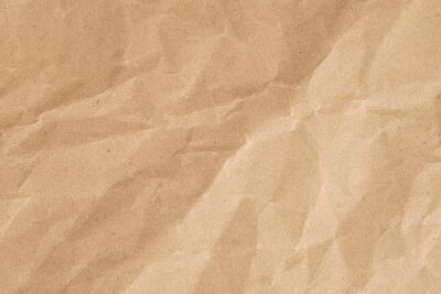 Plakat Recycle brown paper crumpled texture,Old paper surface for background.