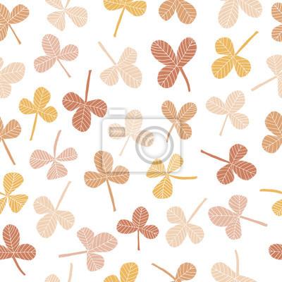 Ręcznie rysowane wzór koniczyny bez szwu z ołówkiem tekstury