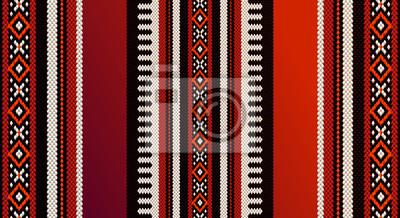 Plakat Red Theme Arabian Sadu Weaving Middle Eastern Te tradycyjne dywan