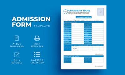 Plakat Registration form, Editable Education Admission Form Template