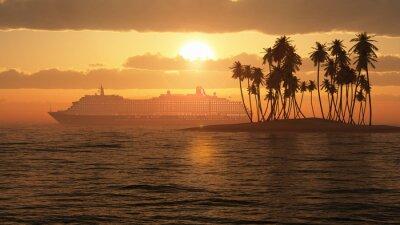 Plakat Rejs o zachodzie słońca