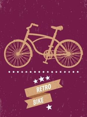 Plakat Retro Bike, projekt plakatu, ilustracji wektorowych