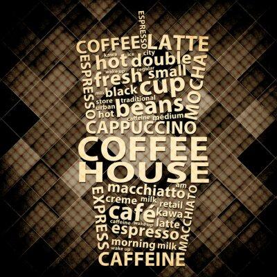 Plakat Retro Coffee Grunge plakatu