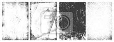 Plakat Retro grunge vertical frames set