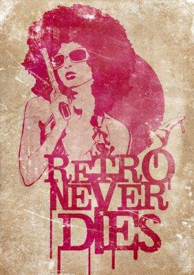 Plakat Retro nie umiera nigdy!