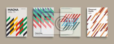 Plakat Retro obejmuje projekt graficzny. Fajne, zabytkowe kompozycje kształtu. Wektor Eps10.