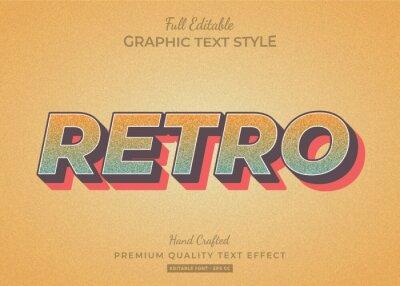 Plakat Retro Old Grunge Text Style Effect Premium