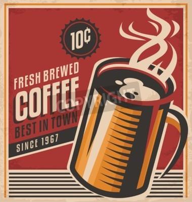 Plakat Retro plakat kawy wektora