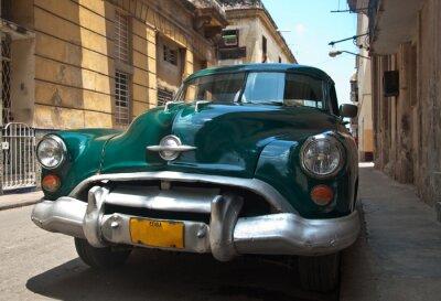 Plakat Retro samochód na Kubie