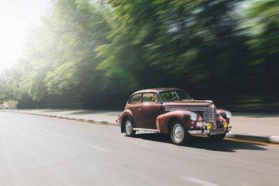 Plakat Retro Speedride samochód na drodze