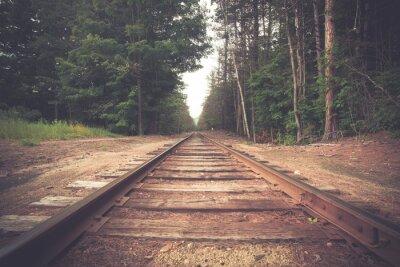 Plakat Retro stonowanych utworów wiejskich kolejowe