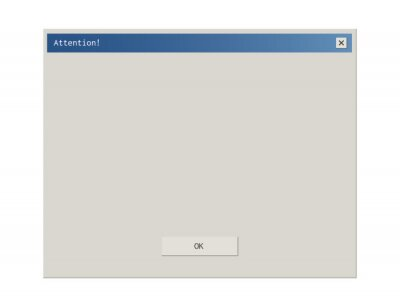 Plakat Retro style dialod box pop up frame interface.