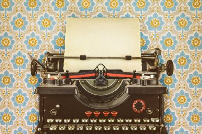 Plakat Retro stylem obraz starej maszyny do pisania