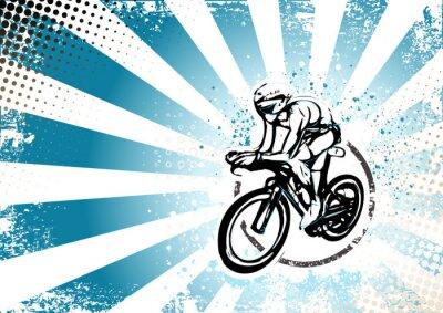 Plakat retro tle plakatu na rowerze