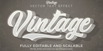 Plakat Retro, vintage text effect, editable 70s and 80s text style
