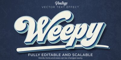 Plakat Retro, vintage text effect, editable 70s and 80s text style.