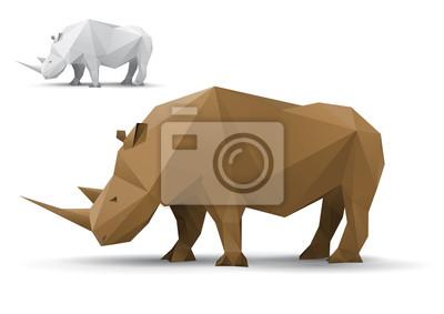 Rhino Model stylizowane trójkąt wielokąta