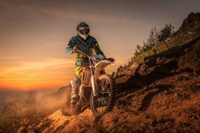Plakat Rider rower enduro