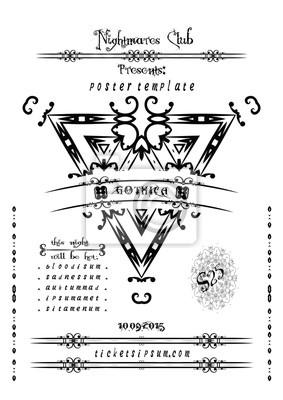 Rock I Metal Muzyka Plakat Szablon Koncert Plakaty Redro