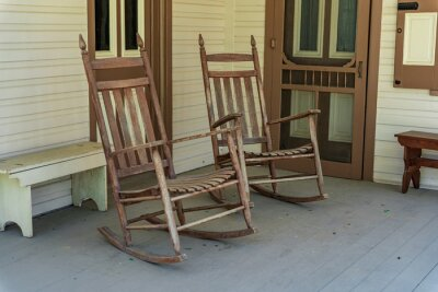 Plakat Rocking Chairs on Porch