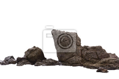 Plakat Rockowa faleza w naturze odizolowywającej na białym tle.
