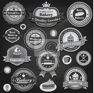 Plakat Rocznika etykieta Piekarnia scenografia z ciasta, ciastko, chleb