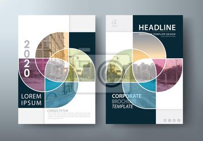 Plakat Roczny raport ulotki broszury szablon wektor, ulotki, szablony okładki książki prezentacji, układ w formacie A4