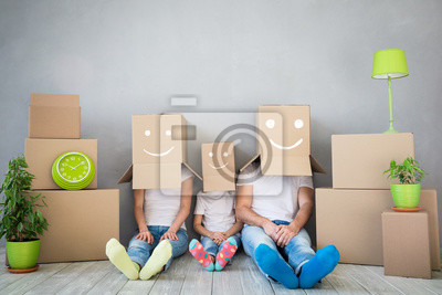 Plakat Rodzina Nowy dom Moving Day House Concept
