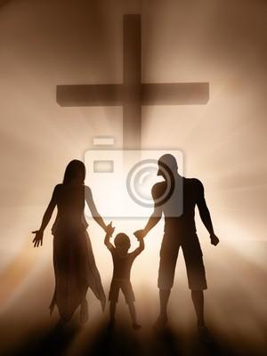 Plakat rodzina, religia