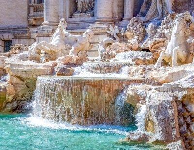 Plakat Rom Trevi Brunnen